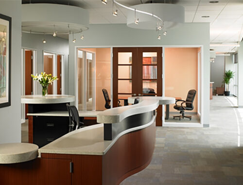 Staron Pebble Aqua Front Office