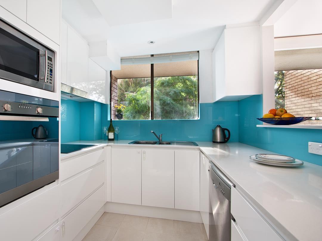 Akril Essence Blue Splashback Kitchen